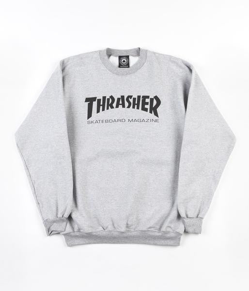 97d4fd5ed836 Thrasher Skate Mag Crewneck Grey – CrazeeCausa
