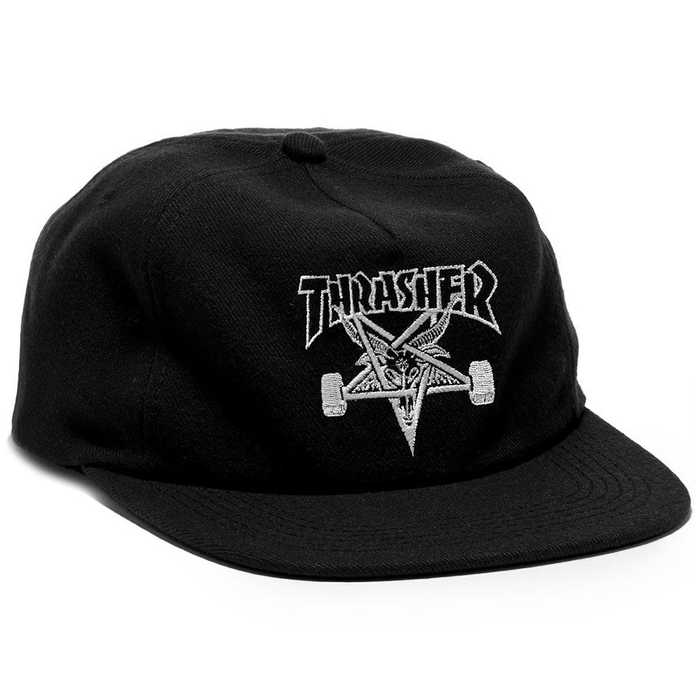 cf5865b5c60 Thrasher Skategoat Wool Blend Snapback Black – CrazeeCausa