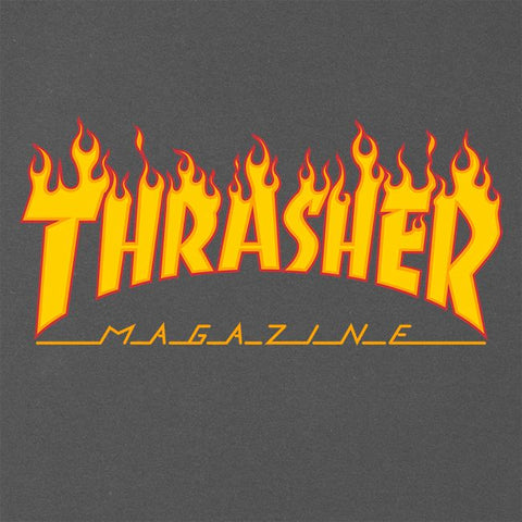 48f9beb72989 Thrasher Magazine Flame Logo T-Shirt Charcoal – CrazeeCausa