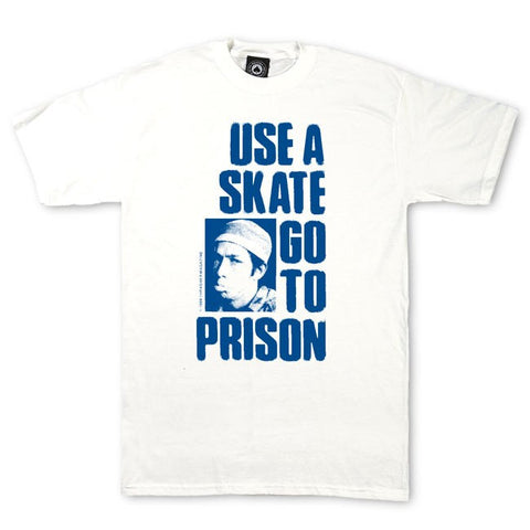 Thrasher Use A Skate Go To Prison T-Shirt White