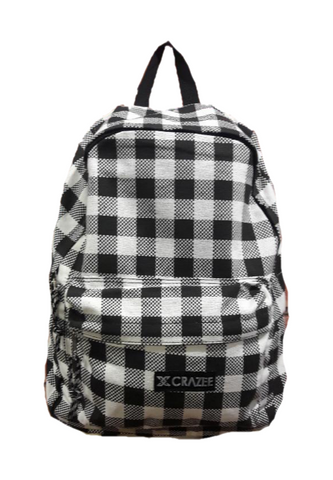 Crazeecausa Checked DOM Backpack