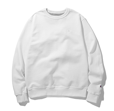 Champion Powerblend Fleece Pullover Crew White