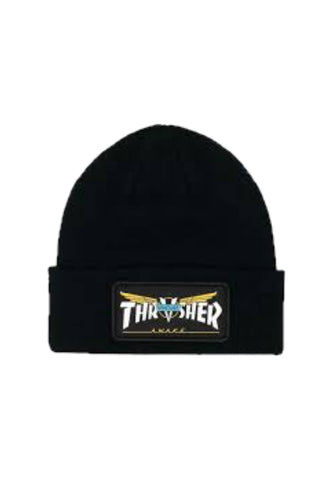 Thrasher x Venture Collab Patch Beanie Black