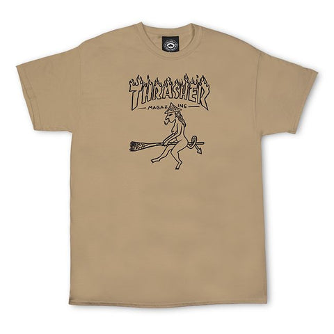 Thrasher Witch T-Shirt (Tan)