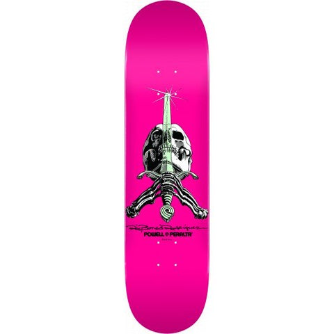 Powell Peralta Skull and Sword Skateboard Deck Pastel Pink 246 K21