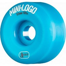 Mini Logo Skateboard Wheels A-cut 53mm 101A Blue 4pk