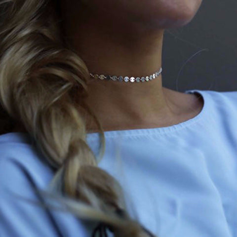 SIMPLE GOLD/SILVER CHOKER