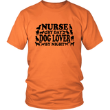 NURSE By Day DOG LOVER By Night - Tshirt - Shopichic