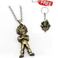 Dragon Ball Necklace 3D Vegeta Pendant With Free Dragon Ball Keychain - Shopichic