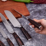 Kitchen Knife Set, Professional Japanese Chef Knives, 7CR17 High Carbon Stainless Steel