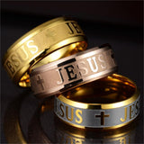 Stainless Steel Jesus Ring - Shopichic