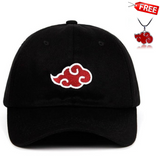 Akatsuki Naruto Dad Hat Uchiha Baseball Caps Black Snapback with free Naruto Necklace - Shopichic