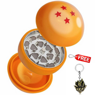 Four Stars Dragon Ball Herb Grinder 3 Layers Herb Grinder With a Free Dragon Ball Keychain