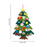 DIY Felt Christmas Tree & Spare Ornaments Bundle-Send LED String Light