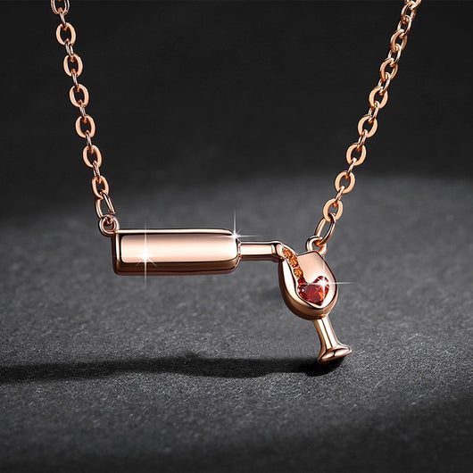 High Quality 3D Bottle Glass Necklace ( BUY ONE GET ONE FREE ) - Shopichic