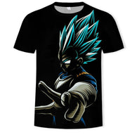 Dragon Ball Super Saiyan Children 3D T-Shirt Black Unisex Print Dragon Ball T-Shirt Short Explosion Sleeve - Shopichic