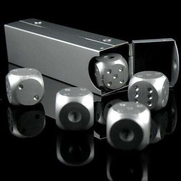 5 Piece Metal Dice Set - Shopichic