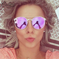 Round Mirrored Sunglasses - Shopichic