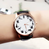Cute Black Cat Cartoon Watch - Shopichic