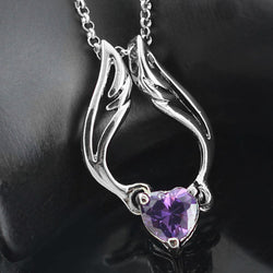 Angel Wing Heart Pendant Necklace - Shopichic