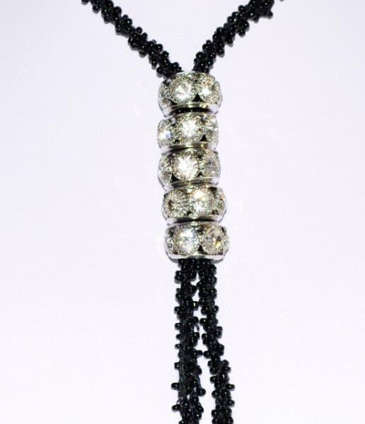 Twisted Chain Crystal Necklace - Shopichic