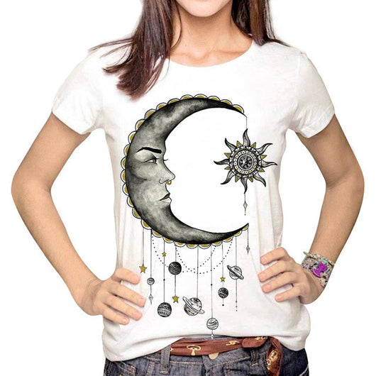 Women's Cartoon 3D Print T-Shirt - Shopichic