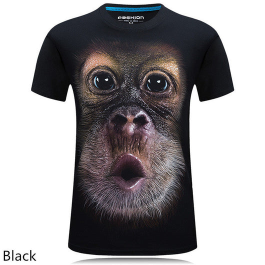 Summer Men's 3D Digital Printed T-shirt - Shopichic