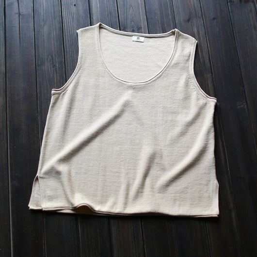 One Size Knitted Cotton Tank Tops - Shopichic