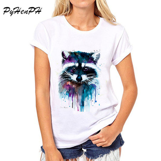Animal Print Short Sleeve T-shirts - Shopichic