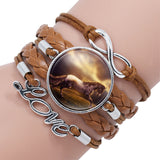 Horse Love Leather Infinity Wrap Bracelet - Shopichic