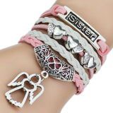 Leather Bracelets with Bangles - Shopichic