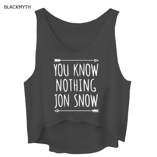 YOU KNOW NOTHING JON SNOW Tank Top - Shopichic