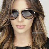 Framed Aviator Sunglasses - Shopichic