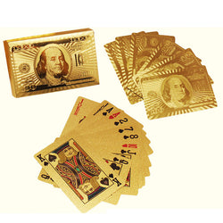 24K Gold-Plated Playing Cards with Optional Case - Shopichic