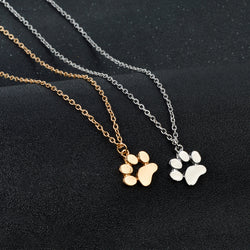 Dog Paw Claw Pendant Necklaces