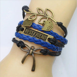 Metal, Rope and Leather Bracelets - Shopichic