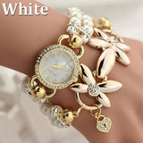 Women's Bracelet and Quartz Wristwatch Set - Shopichic