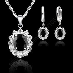 Crystal Necklace and Earring Jewelry Set - Shopichic