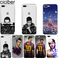 Messi Neymar Ronaldo Transparent Clear Soft iphone Case - Shopichic