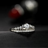 Cubic Zirconia Crown Ring - Shopichic