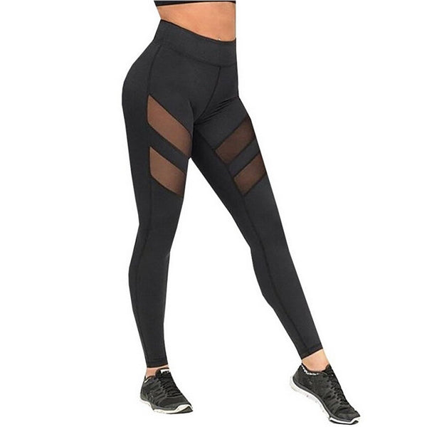 Mesh Stretchy Workout Leggings - Shopichic