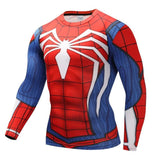 Spiderman Tshirts Men Compression Spider Man Bodybuilding Crossfit T-shirt With FREE Spiderman Necklace - Shopichic