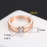 Unisex Rose Gold High Polished Ring