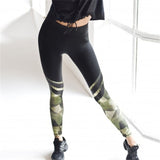 Camo Stripe Push-Up Leggings - Shopichic