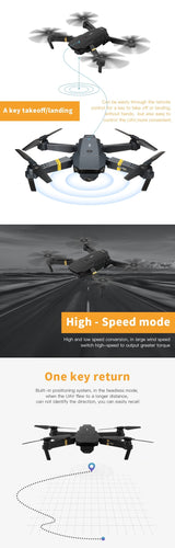 E58 WIFI FPV Foldable Arm RC Quadcopter RTF Drone With Wide Angle HD Camera