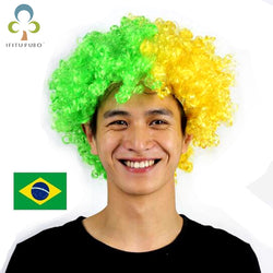 Brazil National Flag Wig