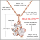 Dog Cat Rose Gold Pendant Necklace - Shopichic