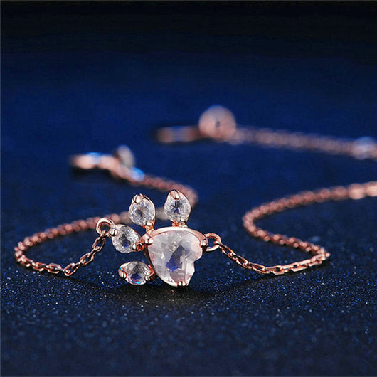 Cute Paw Rose Gold Bracelets