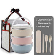 Thermal Big Capacity Microwavable Lunch Box - Shopichic
