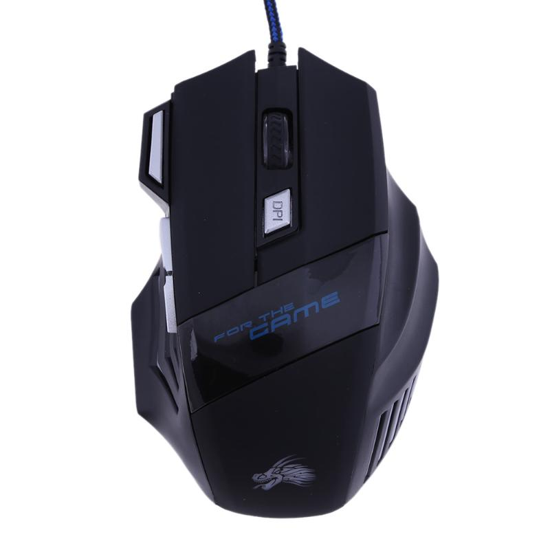 Pc gaming mouse 7 buttons 5500 DPI Led